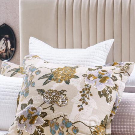 Floral Eurocase Pair Chabana Blush