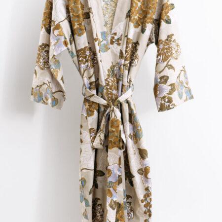 Women's Cotton/Linen Robe Chabana Blush