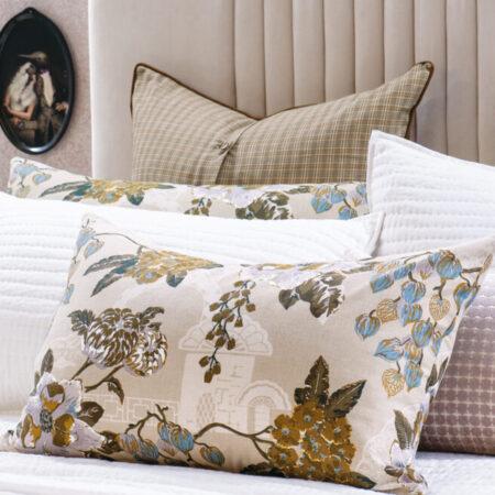 Floral Pillowcase Pair Chabana Blush
