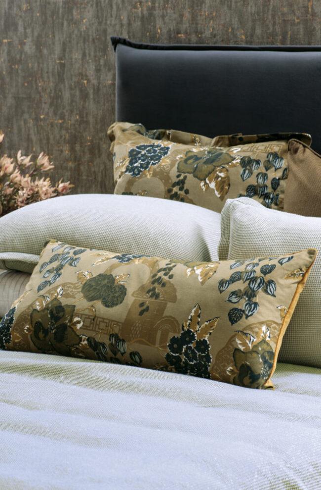 Floral Bolster Cushion CHABANA Hazel