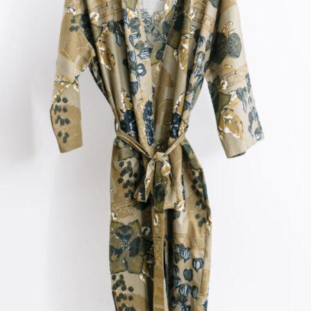 Women's Cotton/Linen Robe Chabana Hazel