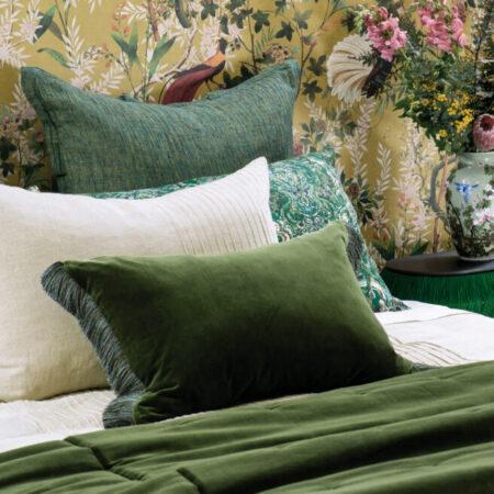 VELVET Comforter TRAMONTO GREEN