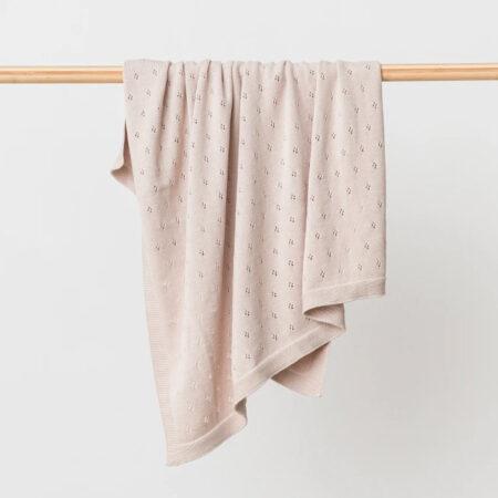 Organic Cotton Baby Blanket MARLEY FAWN
