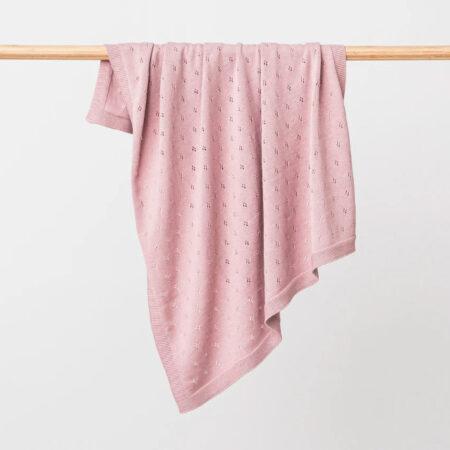 Organic Cotton Baby Blanket MARLEY DUSK